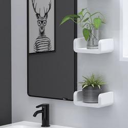 Prosty stojak do przechowywania w łazience naścienny wodoodporny szampon półki Organizer najlepsza cena w Półki i stojaki od Dom i ogród na