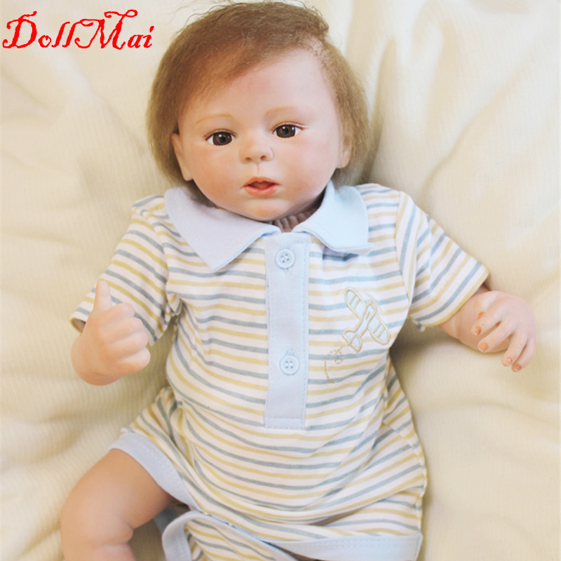 22inch realistic reborn baby doll silicone vinyl soft gentle touch with dummy