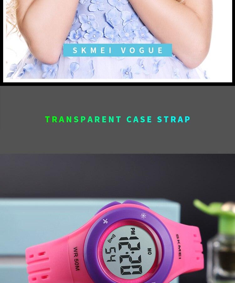 SKMEI Fashion Men Quartz Watch Children Digital Watch Big Dial Waterproof Parent-child Watches relogio masculino 9185 1455 Set 19