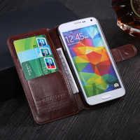 Do Caso da aleta Para LG L Fino D295 D290N LG L Fino Dupla telefone Saco Da Capa Do Livro Wallet Caso Da Pele Do Telefone Com Cartão de Plástico Rígido titular