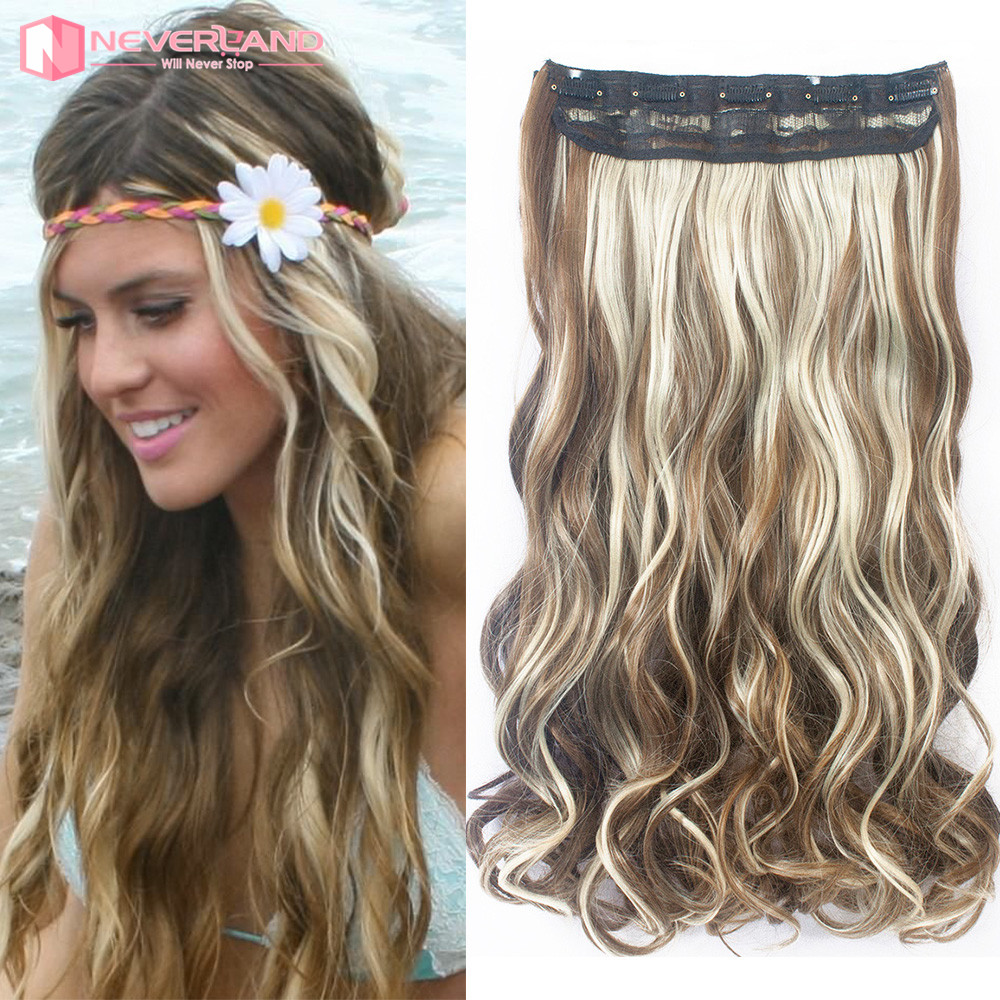 Natural Curly Hair Extensions Clip In Blonde