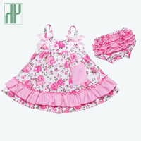 Summer Baby Girl Clothes 2pcs Sleeveless Dreeses Shorts Newborn Clothing Fashion Princess Lace Leopard Twins Baby
