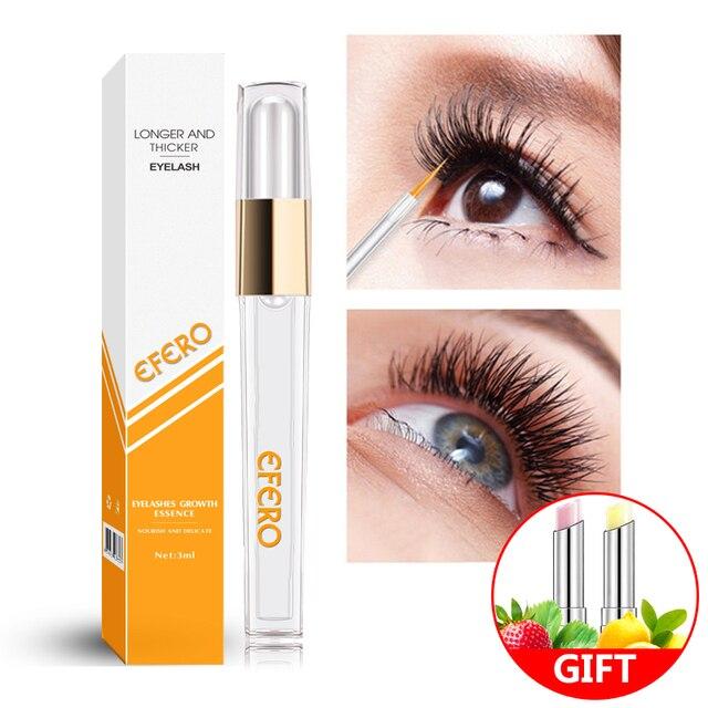 829b5946fd7 efero Powerful Eyelash Growth Essence Eyelash Enhancer Serum Natural Longer  Thicker Eye Lash Extension for Women Makeup Cosmetic