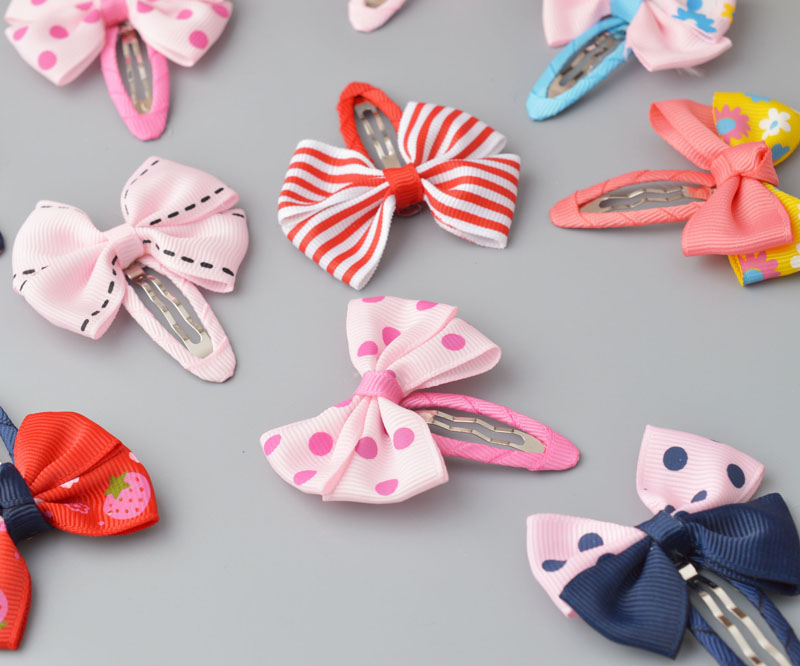 YYXUAN 1pair Girls Dots Bow Hairpins Cute Snap Hair Clips Kids Hairgrips Glitter Princess   Headwear   Barrettes Hair Jewelry