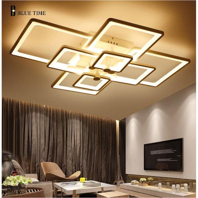 Relativ Plafonnier LED Plafonnier Pour Salon Chambre Acrylique Anneaux LED  LZ68