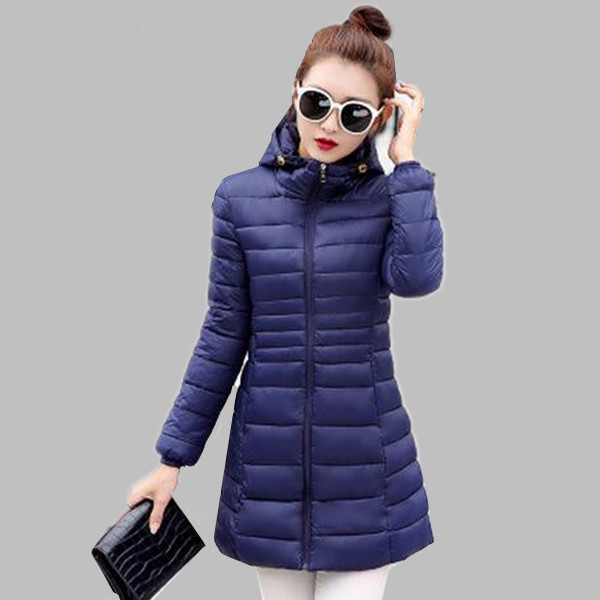 3369ea6350 Female Warm Winter Jacket Women Coat Thin Brand 2017 Down Parka Ultra-light  Down Jackets Long Elegant Outwear Plus Size A325