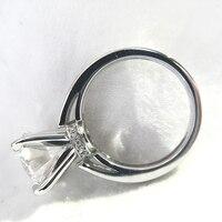 SOLID 14 К белого золота DF Цвет 3 или 5 карат муассанит Halo Обручение кольцо для Для женщин