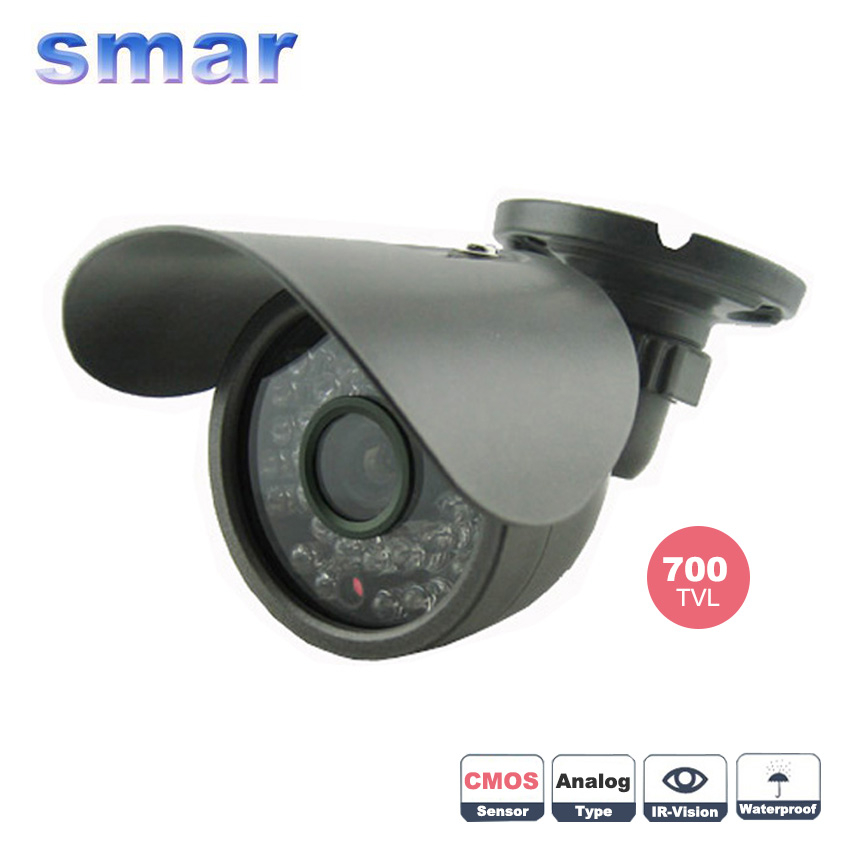 Best price 700TVL CMOS 35pcs IR Infrared Day Night Waterproof Indoor / Outdoor CCTV Camera With bracket Free Shipping mdc3100lt b1 super night vison king exclusive 1 2 cmos mdc cctv camera with mscg glass original mdc camera without bracket