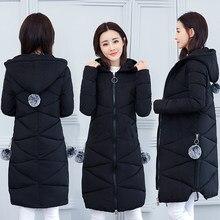 62778fffb4f 2018 Корейская осенне-зимняя куртка пуховик тонкий новый большой размер 4XL  с капюшоном длинный женский