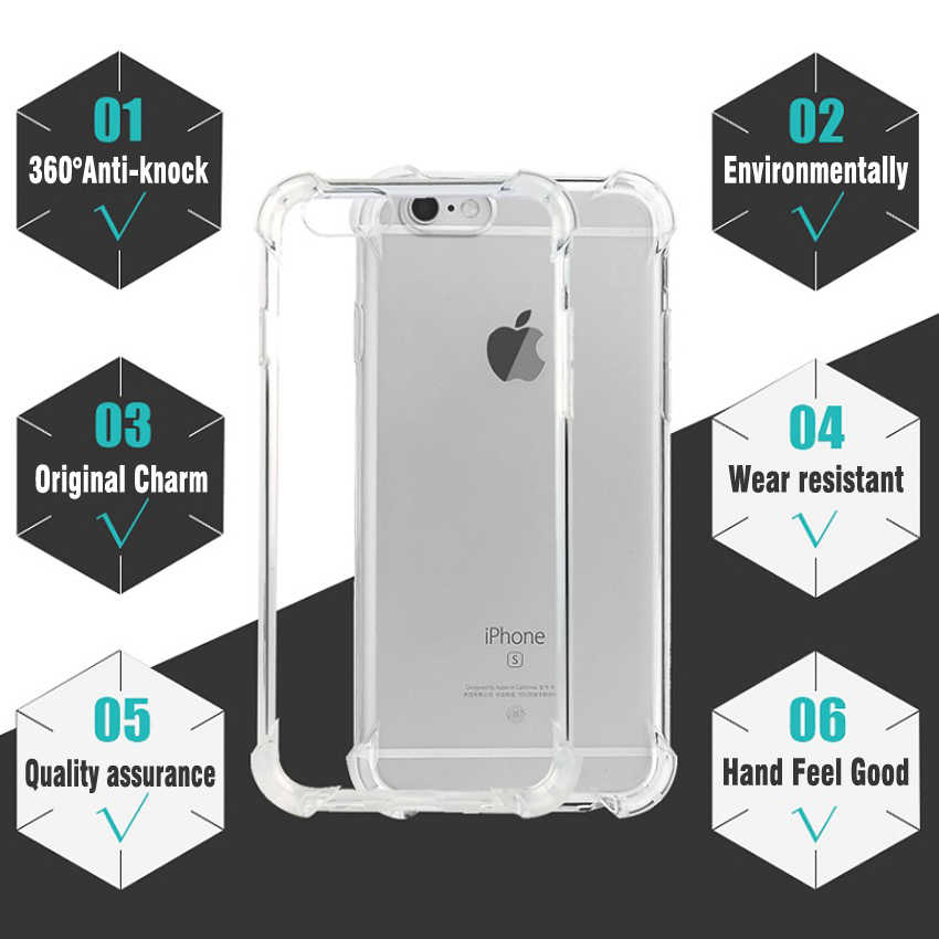 2018 Fashion Anti-Knock Shockproof Lembut Tpu Ponsel Case untuk iPhone 7 360 Tubuh Perlindungan Case untuk iPhone 8 6 S 5 5 S SE X