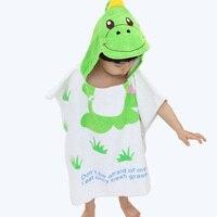 Yeni varış yumuşak sevimli hayvan şekil towel için bebek banyo bez bebek Boys Kapşonlu Bornoz Toalha De Banho Çocuk Battaniye Banyo Halat