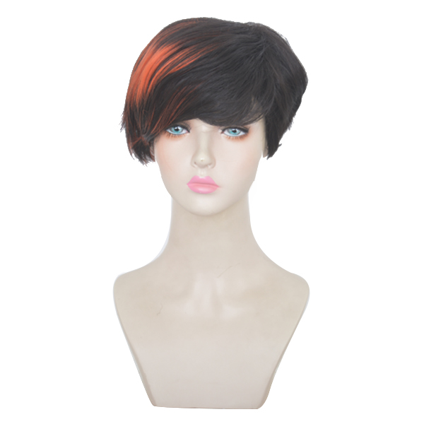 Hair Extensions & Wigs Xi.rocks Red Womens Wigs Brown For Men Ombre Bob Wig Synthetic Hair Blonde Wig Short Curly Cosplay Wigs For Women Heat Resistant