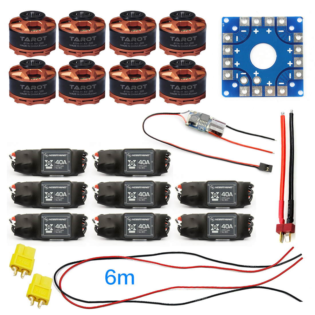 F04997-G JMT Assembled Kit 40A ESC Controller Tarot 320KV Motor Connection Board Wire for 8-axle Drone Multi Rotor Hexacopter image