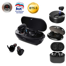 Sago Newest Wireless eadphones Bluetooth 5.0 Stereo HD Wireless Earbuds With Mic Binaural Call Auto Pairing For iphone8