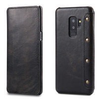 2018 Genuine Leather Case For Samsung Galaxy S9 S9 Plus Retro Vintage Wallet Case For Leather Phone Case For Galaxy S9 S9 Plus