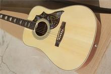 Freies verschiffen China Benutzerdefinierte Gitarre Hochwertige klassische kolibri akustische gitarre Natur Holz farbe Akustische Gitarre 1117