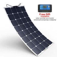 Высокоэффективная полугибкая солнечная панель 100 Вт Солнечная энергия солнечная панель суперскидка и Быстрая отправка