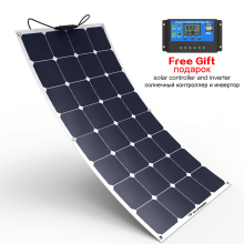 ALLPOWERS Solar Panel 100W 18V SunPower High Efficiency Panels for Vehicle Boat RV Cabin Car Battery Camping.