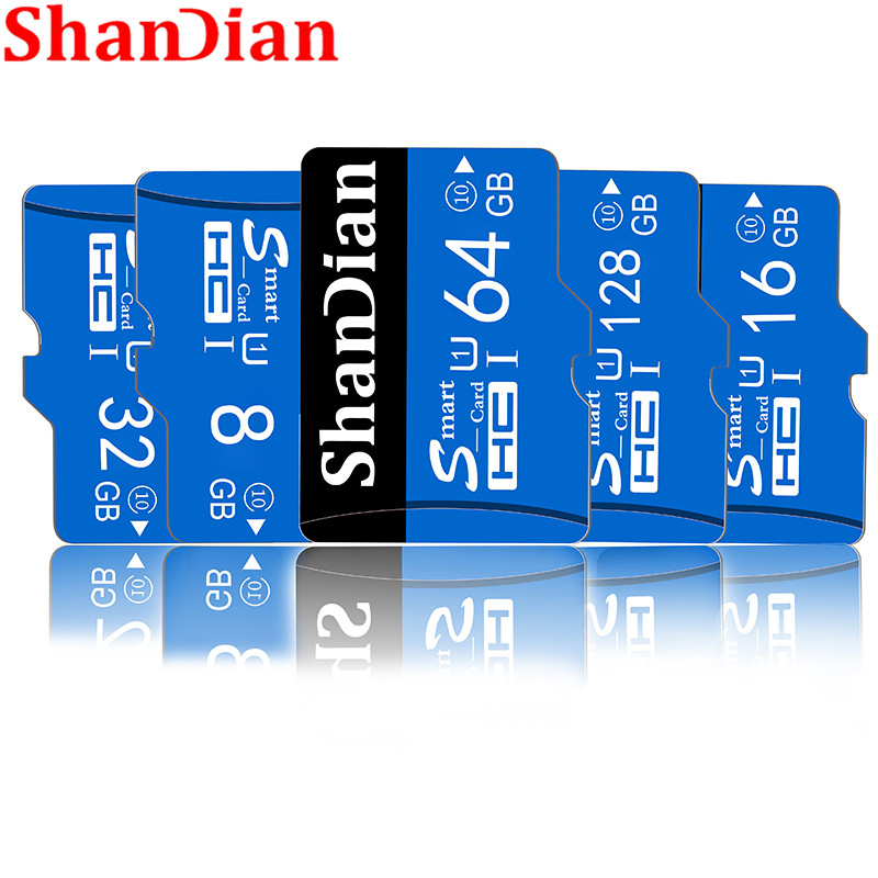 SHANDIAN original Class10 tarjeta de memoria micro sd de 32GB tarjeta Micro Sd de 16GB cartao de memoria de 64GB y 128GB de memoria TARJETA de TF con adaptador