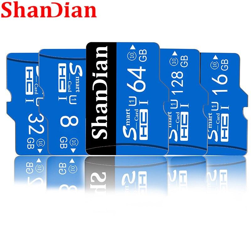 Shandian cartão de memória original class10, micro sd 32 gb 16 gb 64 gb 128 gb de memória cartão tf com adaptador