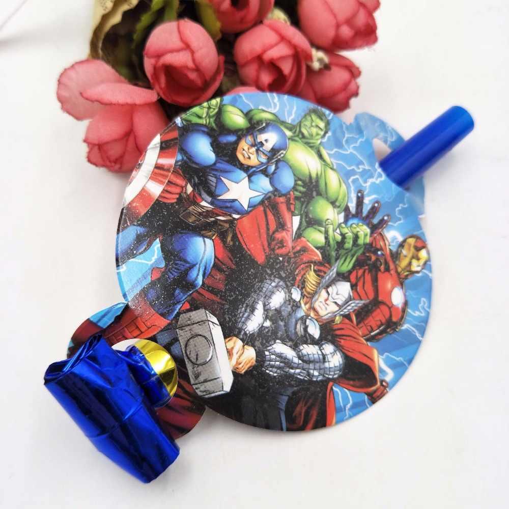 6 Buah/Set Avengers Meledak Baby Shower Pesta Kebisingan Pembuat Ulang Tahun Perlengkapan Pesta Kartun Lucu Peluit Ulang Tahun Anak Mainan