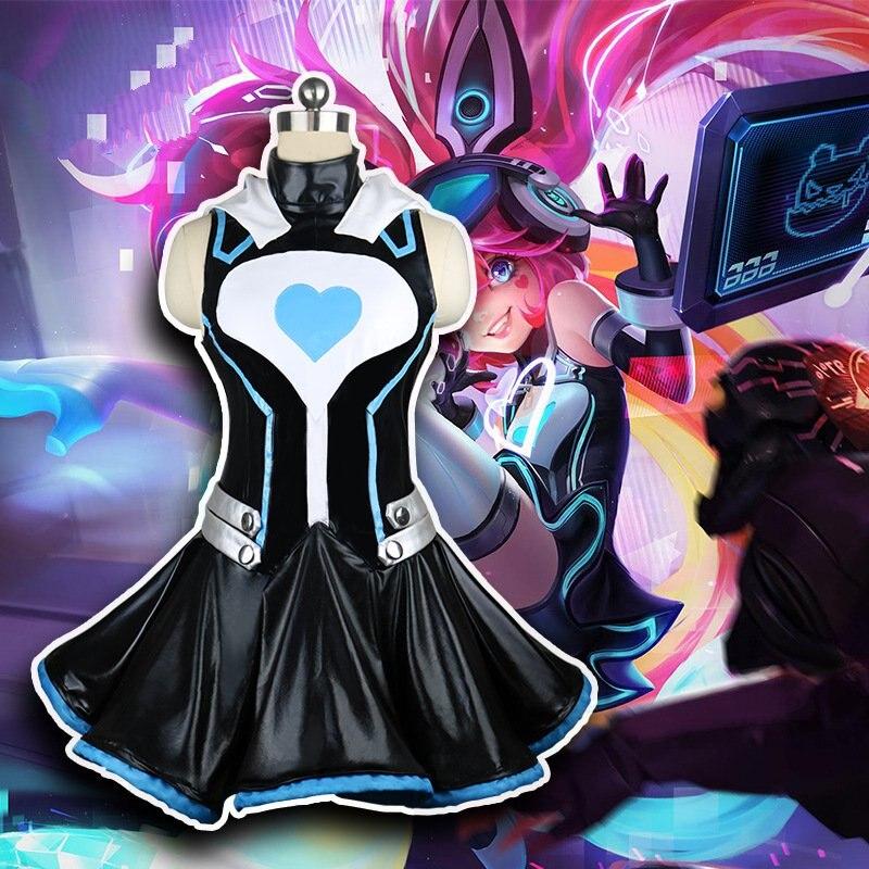 Roi de gloire Angela esprit JACK fille Hackers Cosplay Costume vêtements femmes taille électronique Science-Fiction Cosplay