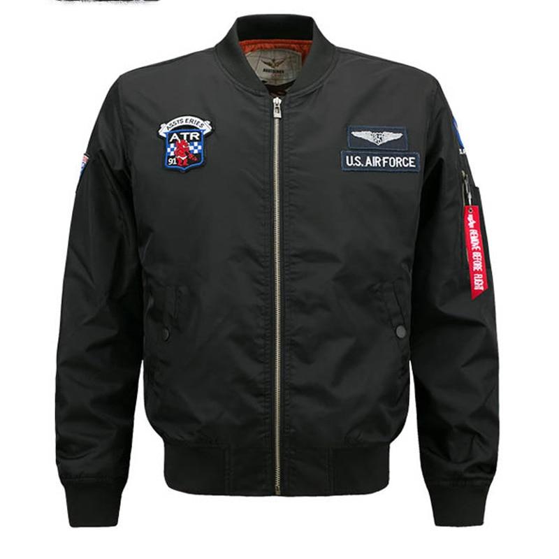 Bomber black Jacket Men Ma 1 Flight Jacket Pilot Air Force Male Ma1 Army Green Military motorcycle Jackets Coats 6XL clothes