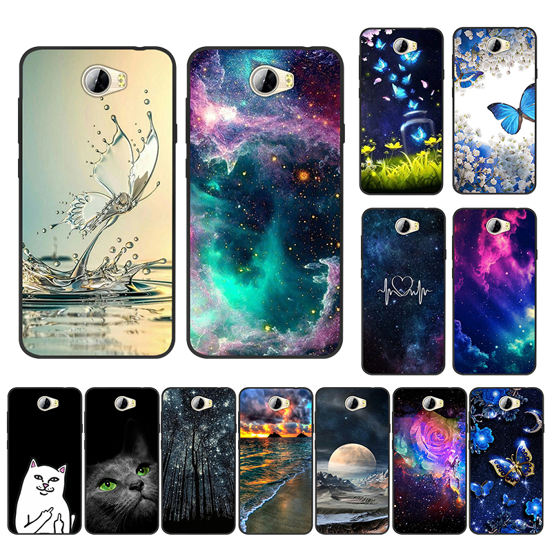 For <font><b>Huawei</b></font> Y5 II Case For <font><b>Huawei</b></font> Y5 2 Y5II <font><b>CUN</b></font>-L21 <font><b>CUN</b></font>-<font><b>U29</b></font> Back <font><b>Cover</b></font> Y6 II Compact Soft TPU Silicone For Honor 5A LYO-L21 Black image