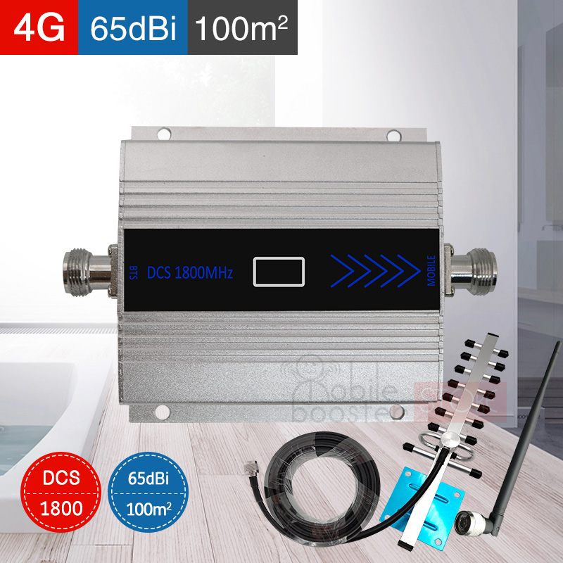 4G Signal Booster DCS 1800MHZ GSM 1800 2g 4g LTE Amplifier Mobile Cell Phone Cellular Repeater Booster Internet Signal Amplifier