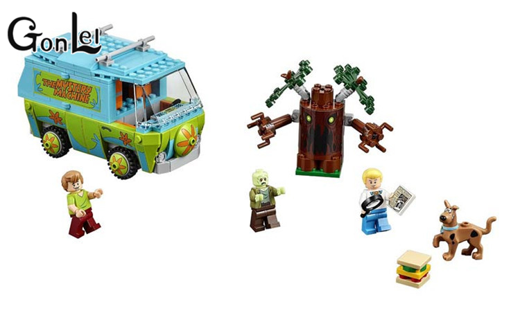 GonLeI Bela 10430 The Mystery Machine Bus Building Block Toys Bricks Toys Children Compatible with Lepin ynynoo 305pcs 10430 the mystery machine scooby doo fred shaggy zombie zeke toys building blocks christmas gift sa562