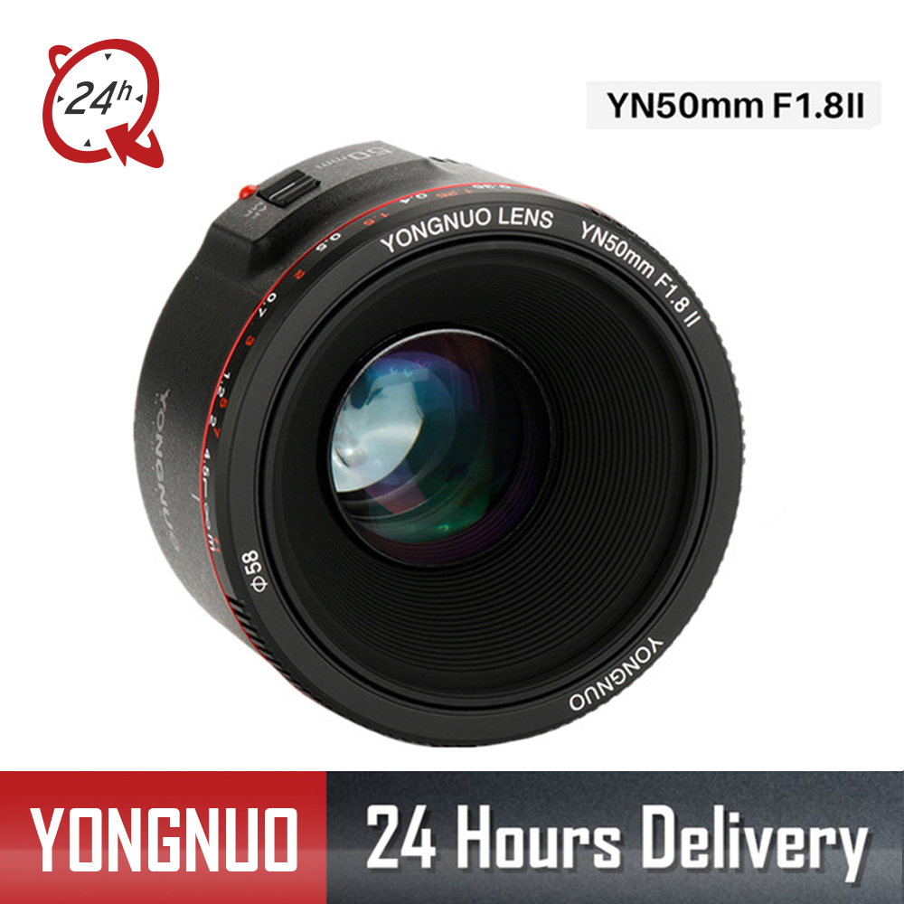 2018 YONGNUO YN50mm F1.8 II Grande Ouverture Auto Focus Lens pour Canon Bokeh Effet Camera Lens pour Canon EOS 70D 5D2 5D3 DSLR