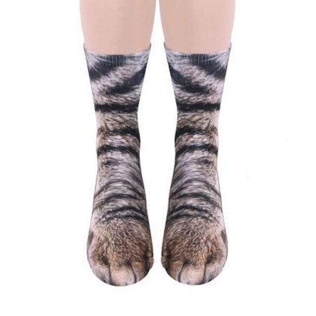 d7e20ceaaed Nieuwe Stijl Unisex grappige mannen vrouwen sokken kousen leuke animal Paw  Crew kat hond print vrouwelijke