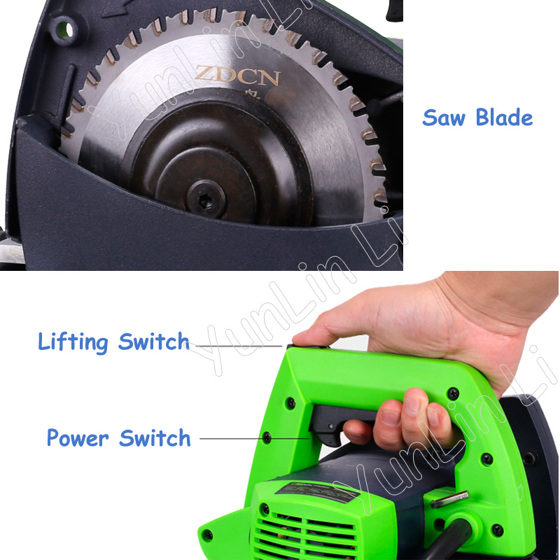 Портативный стальной трубчатый резак электрическая пила 220 В 1000 Вт из нержавеющей стали для резки труб ZD220