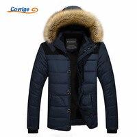 Covrlge Brand Winter Jacket Men 2018 New Parka Coat Men Overseas Fur Hood Male Jacket Cold Casual Parks M 4XL 5XL MWM009