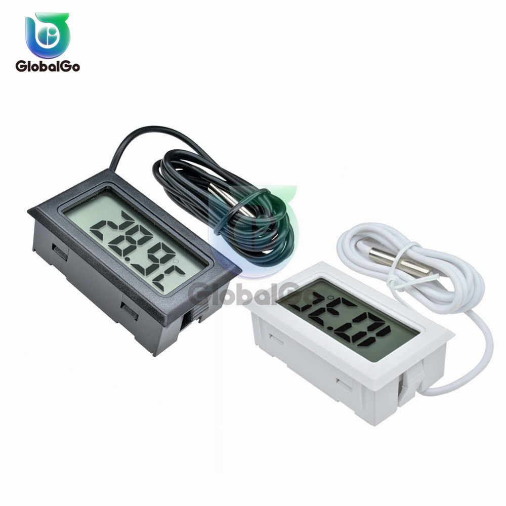 LCD Digital Thermometer Sensor Suhu Meter Thermostat Regulator Controller 1M 2M Kabel Probe TPM-10 FY-10