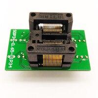Ssop28 tssop28 para dip 28 adaptador de programação OTS 34 0.65 01 ic teste queimar no soquete rt809h programador scoket zif adaptador|Conectores| |  -