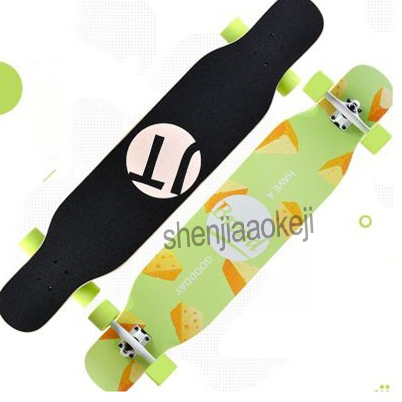 Free-style Longboard Skateboard Drop Downhill Longboard 4 Wheels Complete Dance Board Speed Cruise  Riding Board 1pc