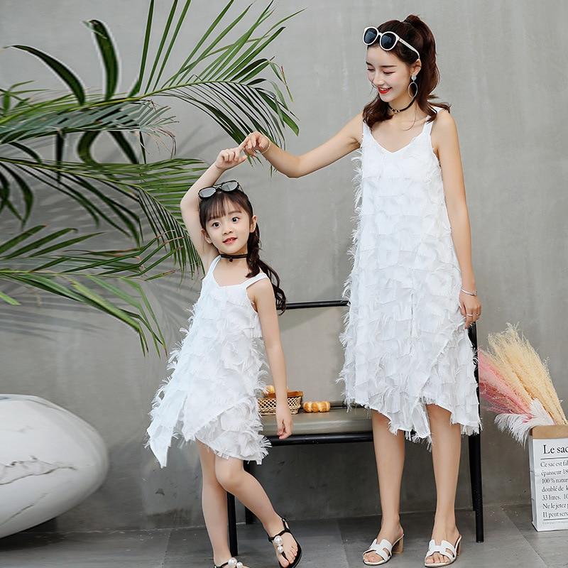 Aiqingsha Mother Kids Dress Girl Summer Family Clothing