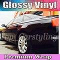 SCHWARZ glänzend Vinyl Auto Wrap Film Mit Air release PROTWRAPS Shiny Glossy piano Fahrzeug Verpackung Abdeckt 1,52x30 m /rolle (5ftx98ft)