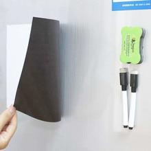 A4 магнит на холодильник Гибкая мини магнитная доска для холодильник письменная доска объявлений для магниты на холодильник memo pad Примечания