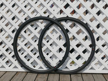 Bicicleta 23mm 25mm 27mm de ancho U forma 38mm Clincher de carbono bicicleta de carretera llanta + regalo(China)