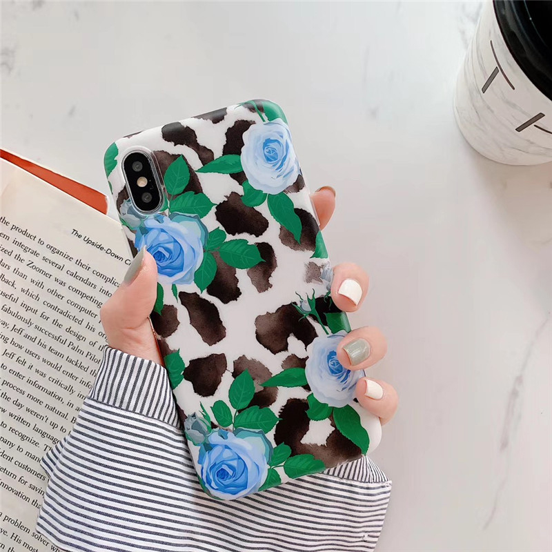 Ink Painting Rose Flower Coque For iPhone XS Max XR 8 7 6s Plus Ink Painting Rose Flower Soft Phone Case Back Cover For iphone 6