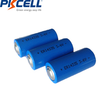 5pcs PKCELL 3.6V 2/3AA liSOCL2 Lithium battery  ER14335 14335 batteries 1650mah  primary battery replace for TADIRAN TL 4955