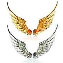 1 par coche que labra moda pegatinas metálicas Wings 3D etiqueta engomada del coche accesorios de la motocicleta coche oro / plata CT-4000