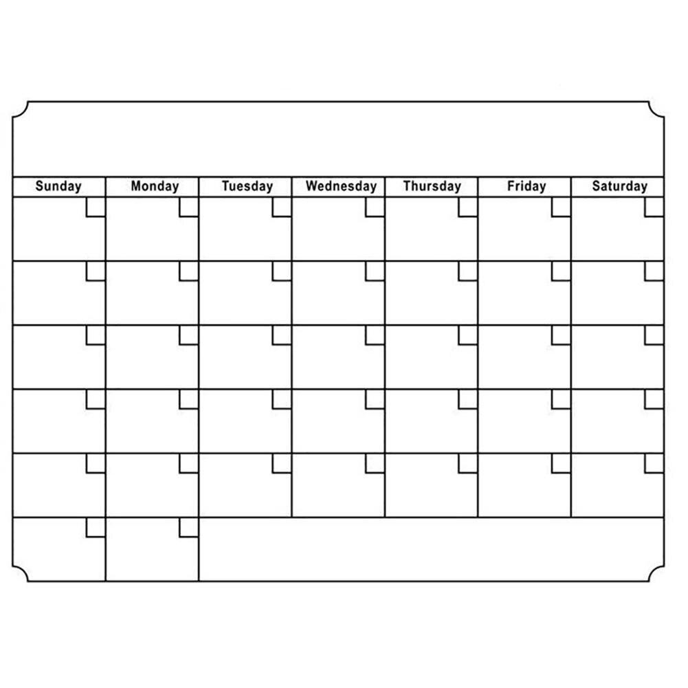 Hot Magnetic Calendar Message Board Erasable Month Day Planner Removable DIY Sticker