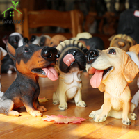 Dog Figurines Pop Ornament Kids Toy Lovely Miniature Resin Cute Dog Home Decoration Dolls For Birthday