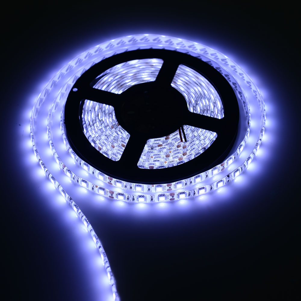 12V 0.5 / 1 / 2 / 3 / 4 / 5M 5050 60Leds/m Non-Waterproof / Waterproof Led Flexible Strip Light Decoration Ribbon Tape Car Lamp