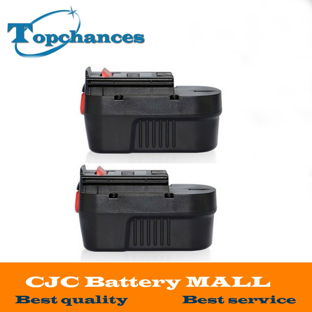 2pcs high quality 14.4V 2.0Ah NI-CD Replacement Power Tool Battery For Black&Decker A144, A144EX, A14, A14F, HPB14 high quality 14 4v 2000mah ni cd replacement power tool battery for bosch bat038 bat040 bat041 bat140 2 607 335 711 charger