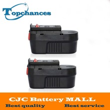 2pcs high quality 14.4V 2.0Ah NI-CD Replacement Power Tool Battery For Black&Decker A144, A144EX, A14, A14F, HPB14