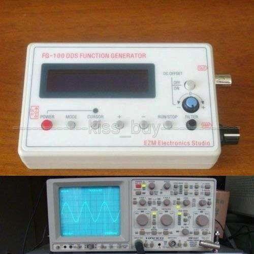 FG-100 Módulo 1 HZ-500 KHz DDS Função Gerador de Sinal de onda senoidal digital Sine + Triângulo + Onda Quadrada dente de serra